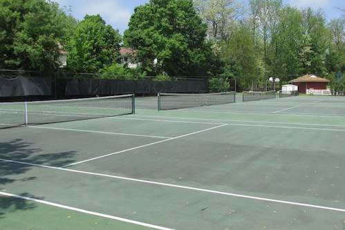 Outdoor courts at All Sport Health and Fitness