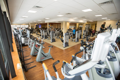 cardio equipment area at all sport health and fitness