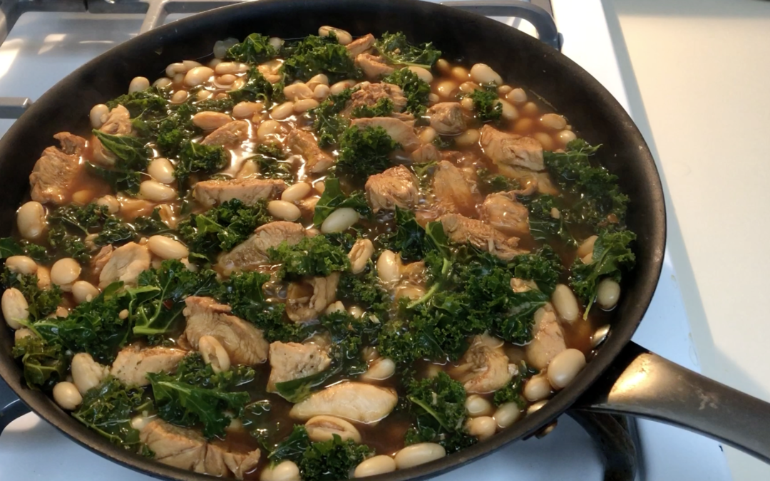 Liz's Favorite 'Kale, Chicken, Greens and Beans'
